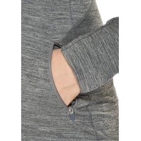 Icebreaker Quantum LS Zip Hood Jacket Women gritstone hthr/gritstone hthr/gritstone hthr